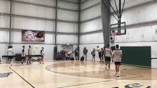 High school Basketball warmup dunks