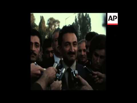 UPITN 27 9 74 EX PRESIDENT OF TURKEY GIVES PRESS INTERVIEW
