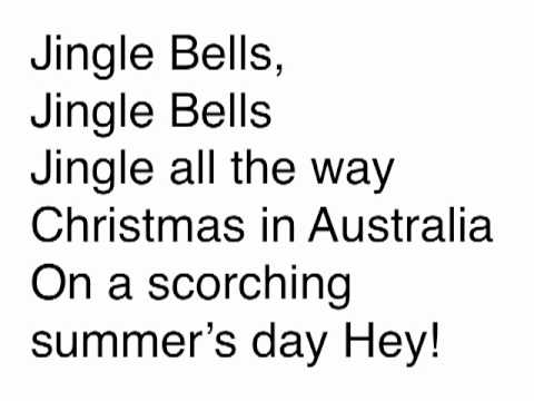photo about Jingle Bells Lyrics Printable named Aussie Jingle Bells