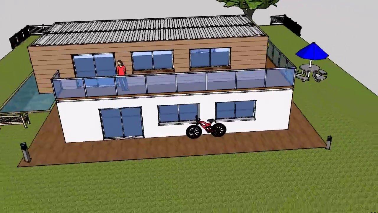 Villa piscina container shelter box produzione vendita noleggio youtube - Piscina container ...