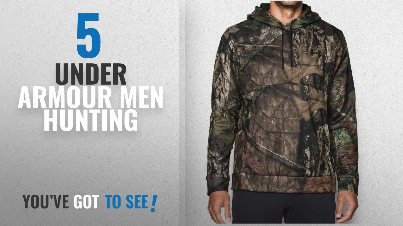 96d2505cb Top 10 Under Armour Men Hunting [2018]: Under Armour Men's Storm Icon Camo  Hoodie ...