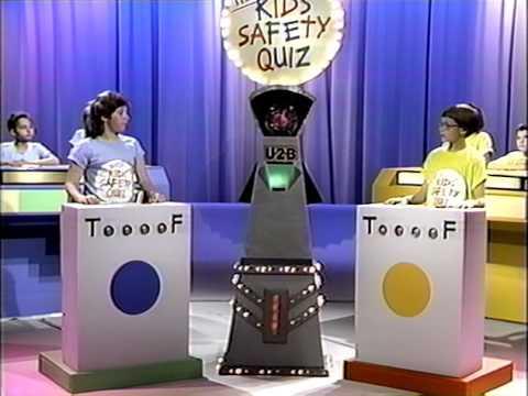 The  Kids' Safety Quiz 1988 VHS