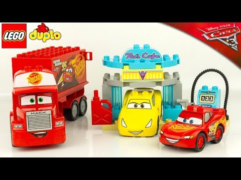 Lego Flo Cars Cruz Mcqueen Café De 3 Camion Ramirez Flash Duplo Mack kOw8nP0