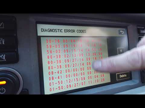 Range Rover L322 Secret Menu & Using It Do Debug SATNav GPS Issues