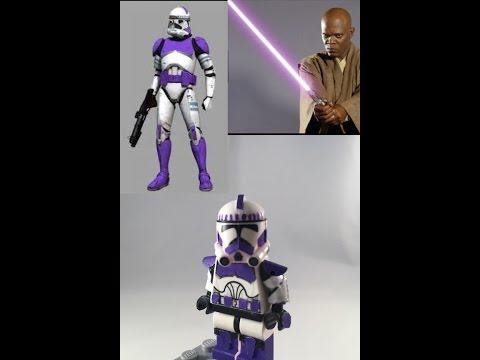 "Star Wars CLONE TROOPER 3.75/"" Figure Mace Windu/'s Purple 187th Attack Battalion"