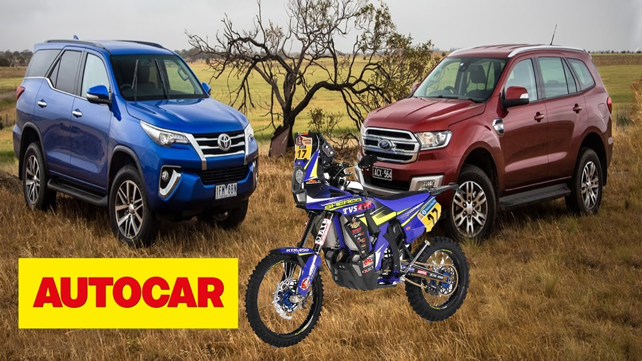 Ford endeavour vs toyota fortuner comparison test sherco tvs racing feature autocar ep 55