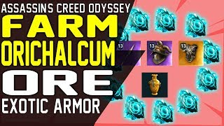 How to FARM ORICHALCUM ORE FRAGMENTS EXOTIC LEGENDARY Farming Guide Assassin's Creed Odyssey