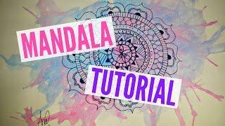 tutorial como desenhar uma mandala how to draw a mandala ana teixeira
