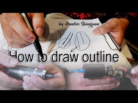 How To Draw A FINELINE On TATTOO (tutorial Outline) By HENDRIC SHINIGAMI