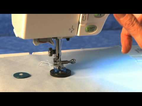 Janome Button Sewing Foot Video Sewing On Four Hole Buttons