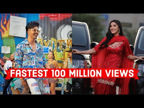Fastest Indian/Bollywood Songs to Reach 100 Million Views on Youtube