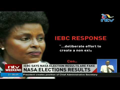 IEBC says NASA election results are fake