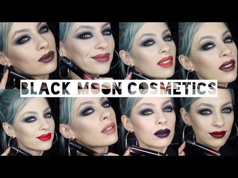 Black Moon Cosmetics Liquid to Matte Lipstick | Swatches & Review
