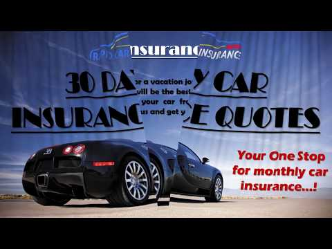 30 Day Auto Insurance Policy, Car Insurance Quotes for 30 Days