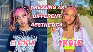 I dressed as a DIFFERENT aesthetic everyday for a week!! (it was difficult)