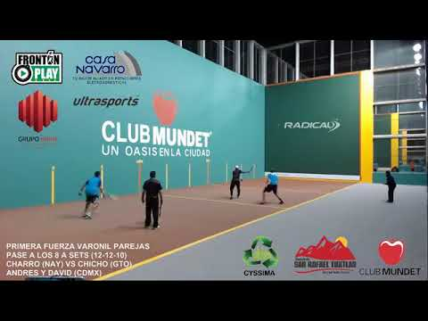 FRONTENIS CLUB MUNDET 2017 DOBLES CHARRO Y CHICHO VS ANDRES Y DAVID