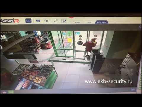 Ночное проникновение в магазин торговой сети Пятерочка. Злоумышленник задержан сотрудниками полиции.