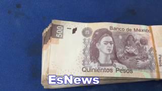Julio Cesar Chavez Jr Flashing Pesos Jokes Of Being Money Team Mexico EsNews Boxing