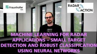 »Radar in Action« Machine Learning for Radar Applications screenshot 5