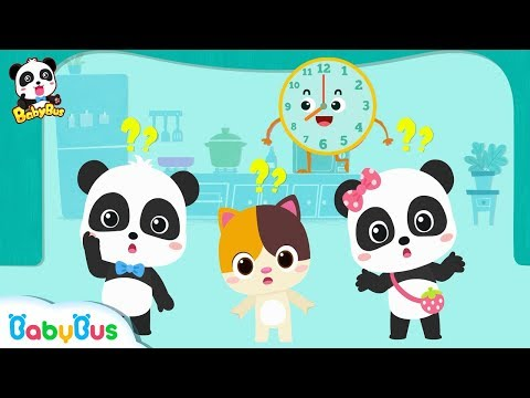 Baby Panda Plays The Clock Game | What Time Is It Now? | Learn How To Tell Time | BabyBus