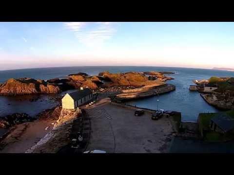 Quadcopter Flight Over Ballintoy Harbour,