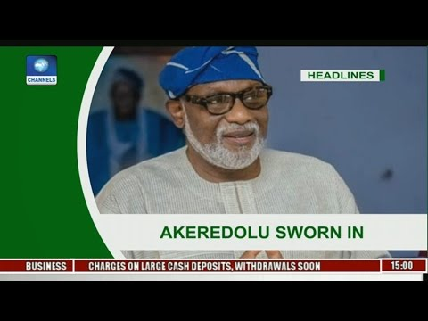 News Across Nigeria: Rotimi Akeredolu Takes Over As Governor