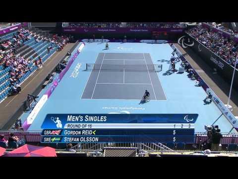 Wheelchair Tennis - GBR vs SWE - Men's Singles Third Round - London 2012 Paralympic Games