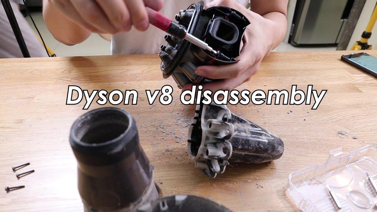 Как разобрать dyson v8 пылесос с контейнером для пыли dyson dc52