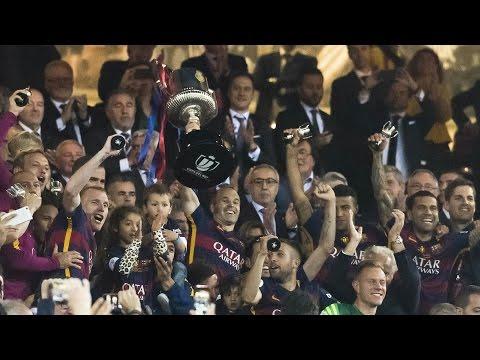 FC Barcelona – Copa del Rey Champions 2016: Iniesta lifts the trophy
