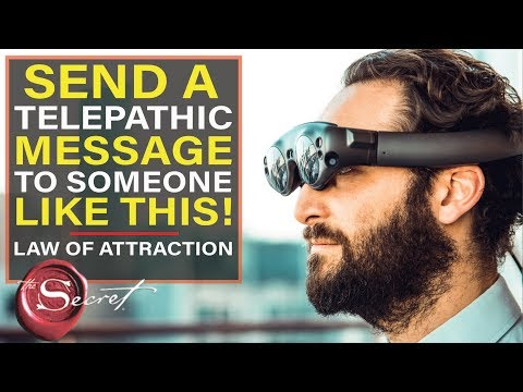 How to Send Telepathic Message | Get What You Want Using the Law of Attraction [This Really Works!!]
