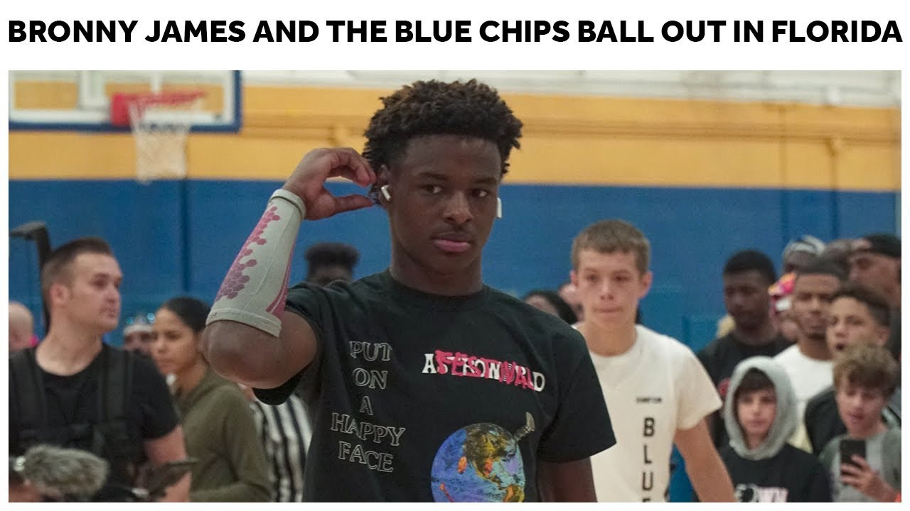 Bronny James and the Blue Chips TAKE OVER South Beach - Full Highlights