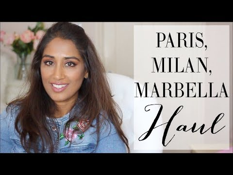 PARIS, MILAN & MARBELLA HAULS | Ambarina | Beauty Passionista