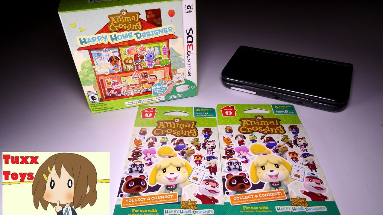 Animal Crossing Happy Home Designer Amiibo Card Unboxing 2200 Subscriber Giveaway Youtube
