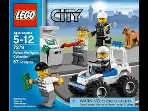 Lego City Police Minifigure Collection Set 7279 Review Youtube