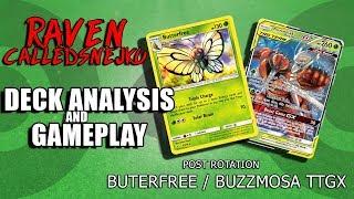 Post Rotation - Buterfree / Buzzmosa deck analysis and gameplay (Pokemon TCG)