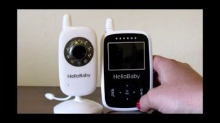 Hello Baby Baby Monitor Wireless with Night Vision 2 4 inch Digital Screen