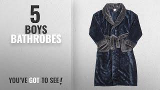 Top 10 Boys Bathrobes [2018]: Childrens Boys Kids Robe Dressing Gown Plush Contrast Nightwear