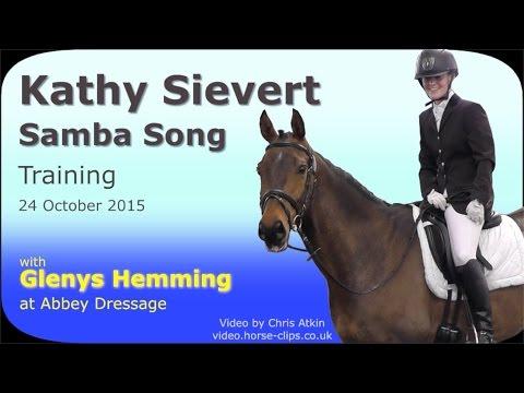 Dressage Training: Kathy Sievert & Samba Song with Glenys Hemming 24/10/15