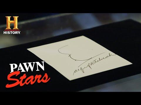 Pawn Stars: Autographed Alfred Hitchcock Self-Portrait (Season 16) | History