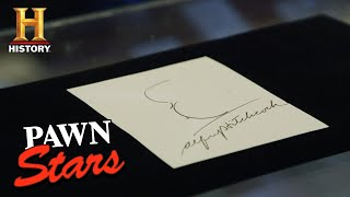 Pawn Stars: Autographed Alfred Hitchcock Self-Portrait (Season 16) | History