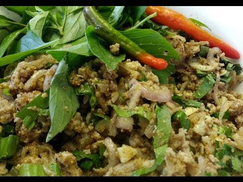 How To Make Laap Sach Chrouk (Laap With Pork)