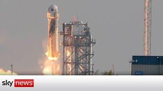 Amazon's Jeff Bezos goes to the edge of space