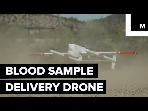 Blood sample delivery drone