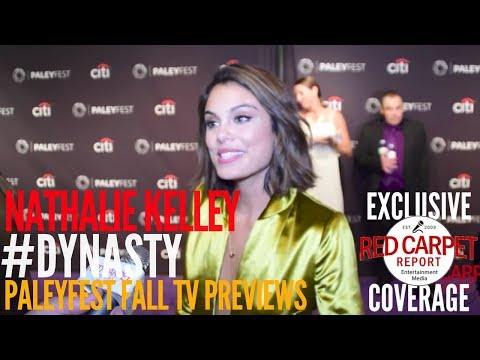 Nathalie Kelley Dynasty ed at The CW series 'Dynasty' p at PaleyFest