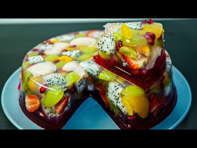 Agar Agar Cermin Buah Puding Buah Fruit Cake Mydapur Panas Youtube
