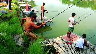 Amazing Big Fishing Videos By Rod And Reel In Hatiar Dighi