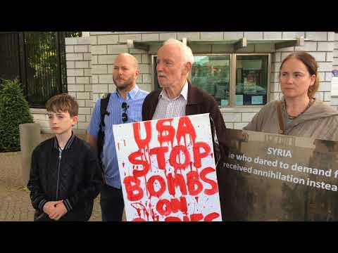 ISSM Protest US Embassy Dublin 25th August 2017
