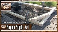 ✅Garten Pergola selber bauen | Punktfundamente setzen | Punktfundamente einbetonieren #1
