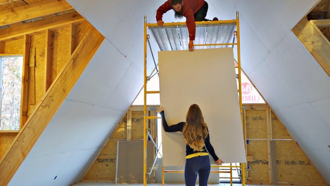 Beginners Install Drywall On 20 Foot