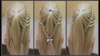Быстрые прически для девочек и девушек.3 в 1.Легкое плетение.Fast hairstyles for girls 3 in 1.Easy!